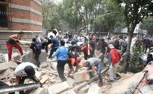 Un puissant tremblement de terre a touché Mexico et ses alentours, le 19 septembre 2017.