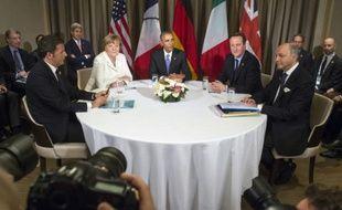 Des chefs d'Etat et de gouvernement, le 16 novembre 2015 à Antalya au sommet du G20