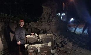 Les dégâts du tremblement de terre à Sumenep, dans l'est de l'île indonésienne de Java, le 11 octobre 2018.