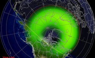 Prévision de visibilité des aurores boréales entre 23h et 02h00 du matin
