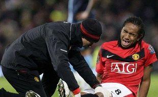 Le joueur de Manchester United Anderson ne joue plus depuis février à cause d'une blessure au genou contractée le 23 février 2010