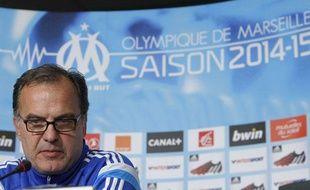 L'entraîneur de l'OM Marcelo Bielsa le 12 septembre 2014.