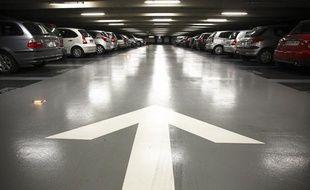 Un parking sousterrain à Toulouse.