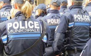 Des agents de police municipale à Marseille. (Illustration)