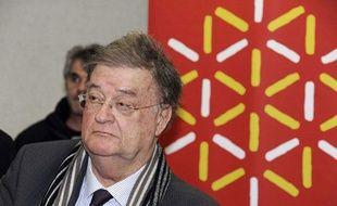 Georges Frêche, président controversé de la région Languedoc-Roussillon, à Prades le 28 janvier 2010