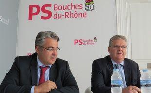 Marseille, le 4 septembre 2014, Jean-David Ciot et FrÈdÈric Vigouroux Èvoquent les Èlections sÈnatoriales.