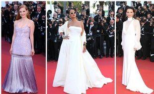 9005481936801f Jessica Chastain en Givenchy, Rihanna en Dior et Juliette Binoche en Chloé.