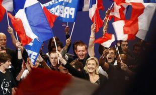Marine Le Pen lors de la convention ddu FN, le 19 février 2012, à Lille