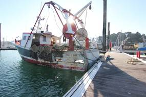 Illustration d'un bateau de pêche, ici dans le port de Saint-Malo.