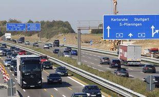 Où travaillent les frontaliers de la région Alsace-Champagne-Ardenne-Lorraine? (Illustration autoroute en Allemagne)