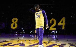 LeBron James, pendant son discours en hommage à Kobe Bryant