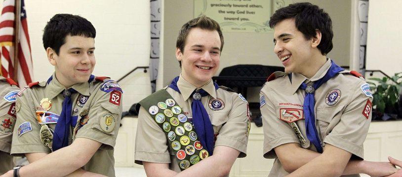 Illustration de boy scouts américains, le  10 février 2014 à Chevy Chase, Md. Tessier, dans le Maryland.