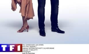 Olivier Minne et sa partenaire de danse Katrina Patchett.