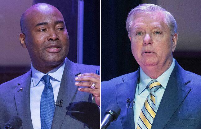 Candidats au Sénat américain Jaime Harrison (démocrate) et Lindsey Graham (républicain).