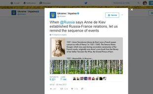 La Russie et l'Ukraine se disputent sur Twitter
