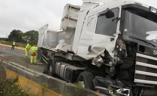 NANTES, le 03/09/2012 Accident sur la route entre St-Nazaire et Nantes.