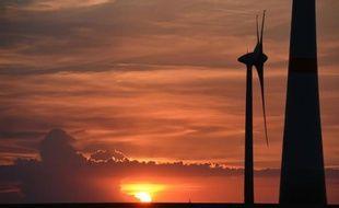 Des éoliennes près de Leipzig, en Allemagne, le 5 juin 2016