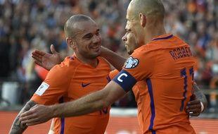 Arjen Robben et Wesley Sneijder ont marqué lors de la victoire des Pays-Bas contre le Luxembourg (5-0) en qualification à la Coupe du monde 2018.