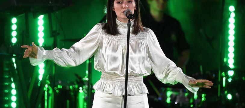 Lorde lors d'un concert à Los Angeles le 29 août 2017