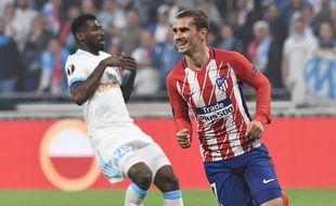 Griezmann inscrit le premier but pour Madrid. L'OM est mené 1-0 à la mi-temps.