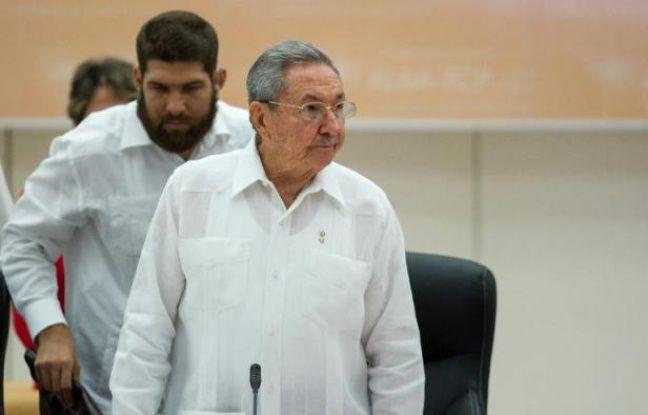 Le président cubain Raul Castro lors d'un sommet extraordinaire de 12 pays d'Amérique latine et des Caraïbes consacré à Ebola, le 20 octobre 2014 à La Havane, à Cuba
