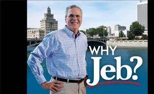 Le prospectus de campagne de Jeb Bush diffusé dans l'Iowa (Etats-Unis) par le comité Right to Rise fin août 2015.
