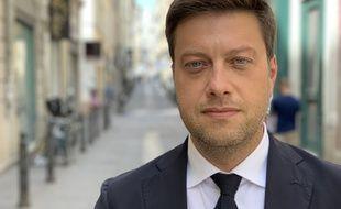 Benoît Payan,  président de l'opposition socialiste au conseil municipal à Marseille.