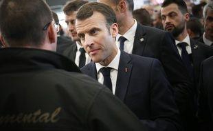 Emmanuel Macron au salon de l'agriculture, le 23 février.