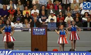 Trois fillettes ont poussé la chansonnette pour Donald Trump