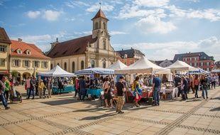 Illustration d'un marché en Allemagne