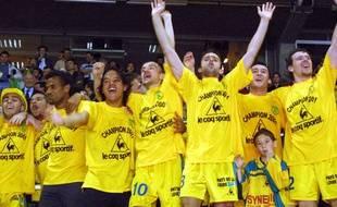 Les joueurs fêtent le 8e titre du FC Nantes dans une Beaujoire en feu !
