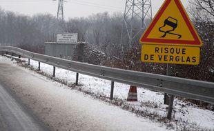 Neige et routes en Alsace le 14 01 2009
