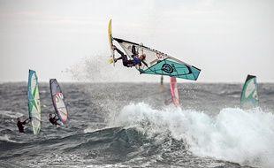 Reportage à Carro - championnat de France de windsurf vagues 21 novembre 2016