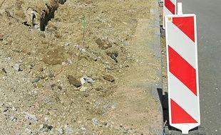 Les travaux dans la rue de Wodli.