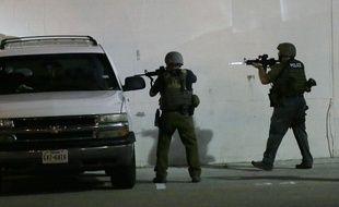 La police américaine en opération le 8 juillet 2016 à Dallas.