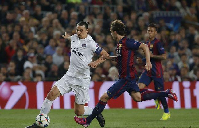Zlatan Ibrahimovic lors du quart de finale retour de Ligue des champions entre le PSG et Barcelone, le 21 avril 2015.