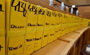 Les dossiers du procès Air Cocaïne, jugé à la cour d'assises d'Aix-en-Provence.