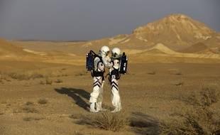 Un exercice israélien de vie sur Mars dans l'un des déserts du pays similaires à la Planète rouge, le 18 février 2018.