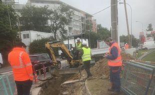 C'est lors d'un chantier que des câbles ont été arrachés.