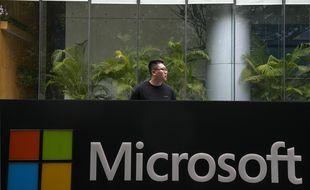 Le siège de Microsoft à Pékin.