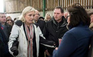 Marine Le Pen en campagne le 10 décembre 2015 à Quesmy
