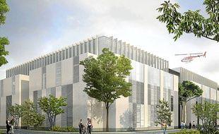 Le pavillon P regroupera les blocs opératoires, l'imagerie d'urgence et les soins critiques.