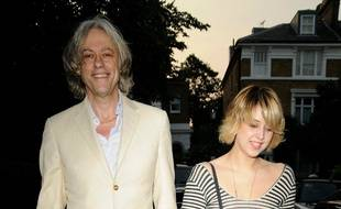Le chanteur Bob Geldof et sa fille, Peaches, en 2009