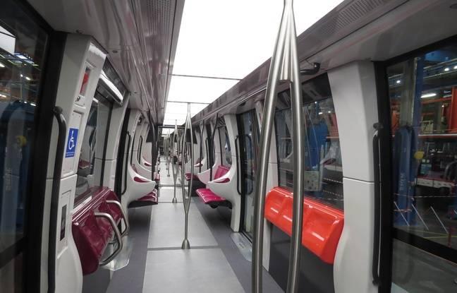 L'intérieur du futur métro de Lille, dont la mise en service est prévue en 2023.