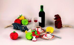Les fables de La Fontaines en version LEGO lors d'une exposition à Croissy-sur-Seine