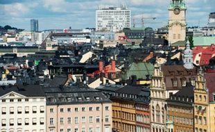 Vue de la vieille ville de Stockholm, le 24 août 2012