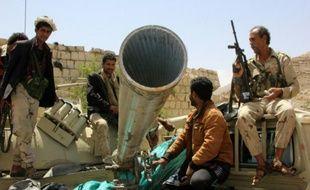 Forces pro-gouvernementales le 17 avril 2016 à Sanaa