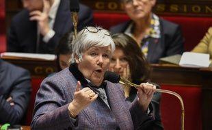 Jacqueline Gourault, ministre auprès du ministre de l'Intérieur, à l'Assemblée nationale, le 14 février 2018.