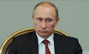 Le président Vladimir Poutine le 7 avril 2014 dans sa résidence Novo-Ogaryovo près de Moscou