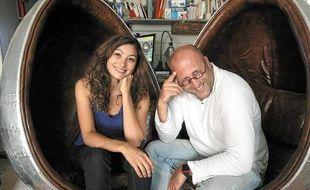 Pauline Moussier, vice-présidente des Ateliers du Design, et Frédéric Tabary.